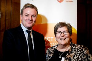 Jamie Reed MP + Linda Hewitt, Hospice at Home West Cumbria