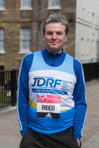 London, UK. 19 April 2016. Jamie Reed MP, Labour, Copeland. Eight Members of Parliament, including three front benchers, attend a photocall before starting at the 2016 Virgin Money London Marathon this Sunday, 24 April. All of them will be raising money f